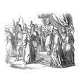 vintage drawing biblical prophet daniel vector image vector image