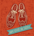 vintage spectator shoes fathers day vector image vector image