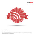 wi-fi icon - red ribbon banner vector image