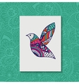 Zentangle stylized bird Hand drawn vector image vector image