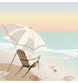 Vintage beautiful Sunset Tropical card vector image