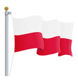 waving poland flag isolated on a white background vector image