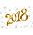 2018 new year greeting card with sparkling vector image
