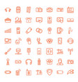 49 device icons vector image vector image