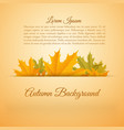 abstract colorful autumn season poster vector image vector image