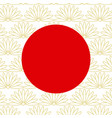 abstract japanese background with red circle vector image