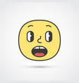 afraid emoji face with big eyes eps10 vector image vector image