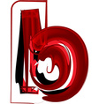 Artistic font letter b vector image vector image