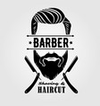 barbershop vintage label badge or emblem vector image vector image