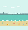 beach background in pastel color style vector image vector image