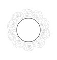 begonia flower outline picotee banner wreath vector image vector image