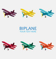 biplane in color monochrome vector image vector image