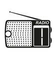 black and white radio silhouette vector image vector image