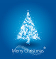 blue christmas tree geometric vector image vector image