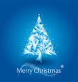 blue christmas tree geometric vector image