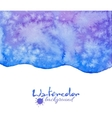Blue decorative watercolor background vector image vector image