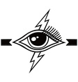 bolt lightning eye symbol theme vector image vector image