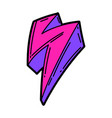 cartoon lightning urban colorful vector image