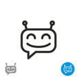 chatbot icon simple robot head picture vector image