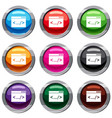 code window set 9 collection vector image vector image