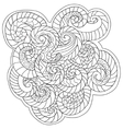 Coloring for adults Pattern from waves vector image