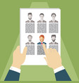 concept of human resources management vector image