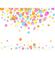 confetti background watercolor confetti design vector image