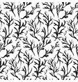 contrast hand drawn ink branches pattern vector image vector image