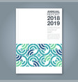 cover annual report type a vector image