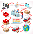 Delivery 01 Infographic Isometric vector image vector image
