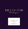 diamond boutique logo elegant gold business card vector image vector image