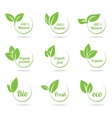 Ecology icon set Eco-icons vector image vector image