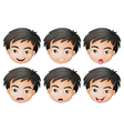 Faces of a boy vector image vector image