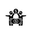 financial pyramide black icon sign on vector image vector image