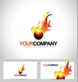 Fire Flame Logo vector image vector image