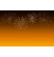 Fireworks - abstract holiday background Symbol of vector image vector image