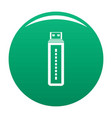flash drive icon green vector image vector image