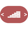 flat paper cut style icon of brickwork fragment vector image