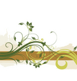 floral border background vector image vector image