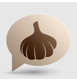 Garlic simple sign Brown gradient icon on bubble vector image vector image