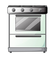 Gas stove vector image