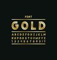 gold font alphabet letters vector image