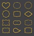 golden frames vintage style glitter texture vector image vector image