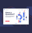 have question isometric questioning persons how vector image