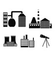 industry productionfactory set collection icons vector image vector image