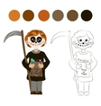Kid with Halloween Skeleton Costume vector image vector image