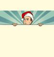 man with santa hat sales banner vector image vector image