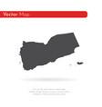 map yemen isolated black on vector image vector image