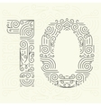 Mono Line style Geometric Font for Text vector image vector image