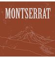 Montserrat landmarks Retro styled image vector image vector image